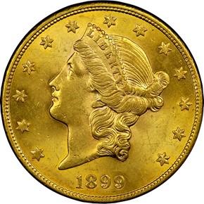 1899 S $20 MS obverse