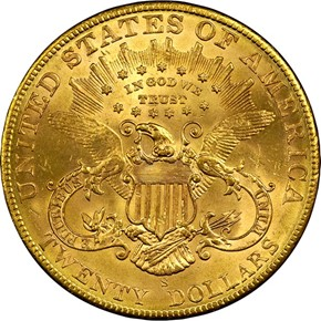 1906 S $20 MS reverse