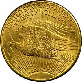 1911 D $20 MS reverse
