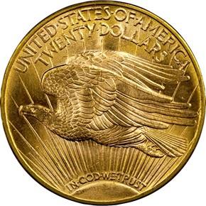 1923 D $20 MS reverse