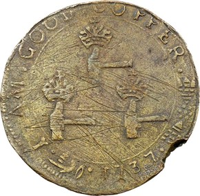 1737 HIGLEY 3 HAMMERS 'VALUE ME AS YOU PLEASE' 3P MS reverse