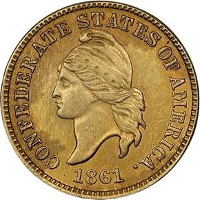 1861 CSA ORIGINAL B-8005 1C PF obverse