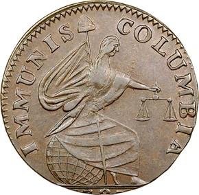 1787 IMMUNIS COLUMBIA EAGLE - PLAIN EDGE MS obverse