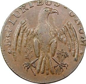 1787 IMMUNIS COLUMBIA EAGLE - PLAIN EDGE MS reverse