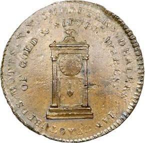 '1789' EDGE ENGRAILED MOTT COMPANY TOKEN MS obverse