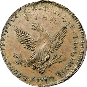 '1789' EDGE ENGRAILED MOTT COMPANY TOKEN MS reverse