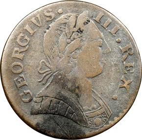 1787 'GEORGIVS' MACHIN'S MILLS 1/2P MS obverse