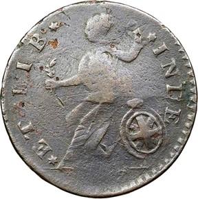 1788 'ET LIB INDE' VERMONT MS reverse