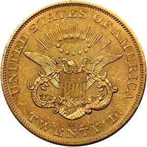1861 O $20 MS reverse