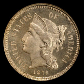 1879 3CN MS obverse