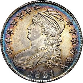 1821 50C MS obverse