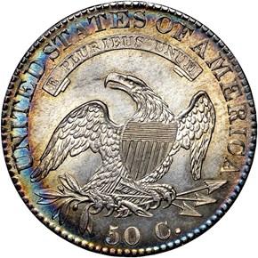 1821 50C MS reverse