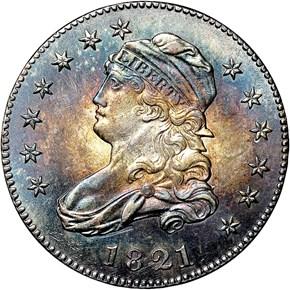 1821 25C MS obverse