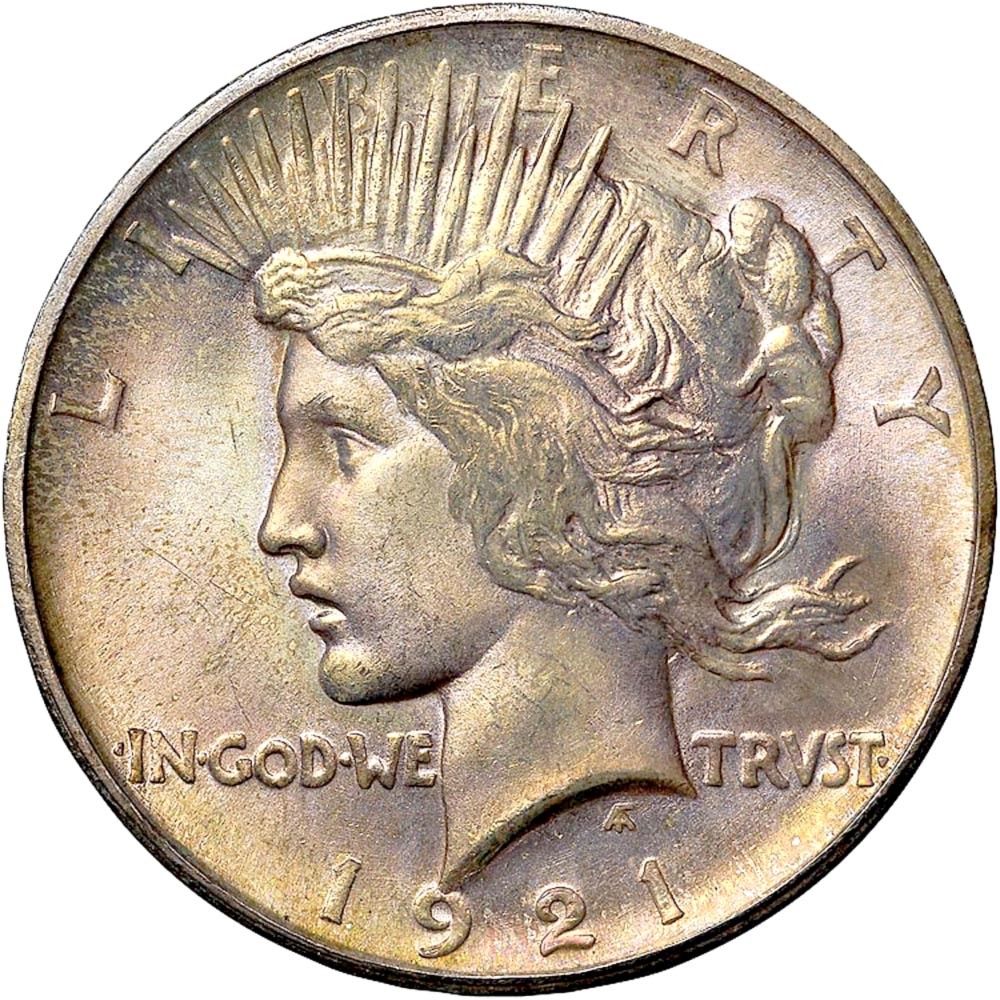 High Relief Peace Dollar 1921 Peace High Relief S$1 ms