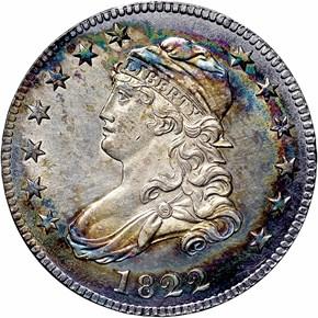 1822 25C MS obverse