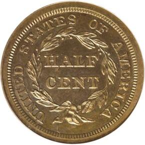 1843 ORIGINAL 1/2C PF reverse