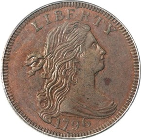 1796 DRAPED BUST 1C MS obverse