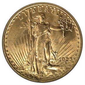 1923 $20 MS obverse