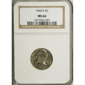 1960 D 5C MS obverse