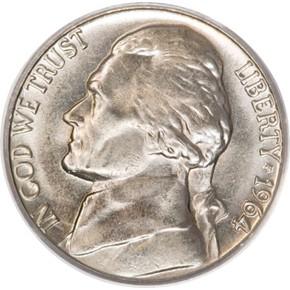 1964 D 5C MS obverse