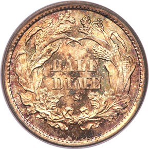 1872 S ABOVE BOW H10C MS reverse