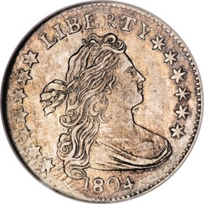 1804 14 STARS REV JR-2 10C MS obverse