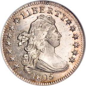 1805 5 BERRIES JR-1 10C MS obverse