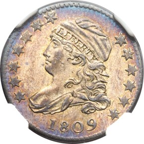 1809 JR-1 10C MS obverse