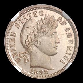 1892 10C MS obverse