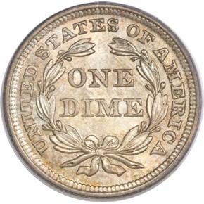 1852 10C MS reverse