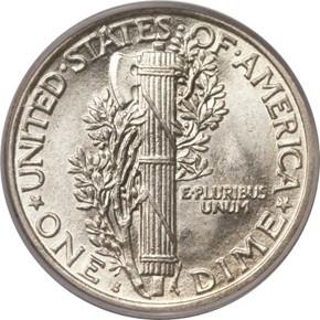1917 S 10C MS reverse