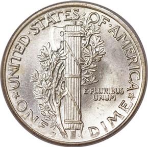 1918 S 10C MS reverse
