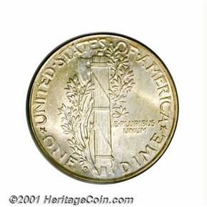1928 D 10C MS reverse