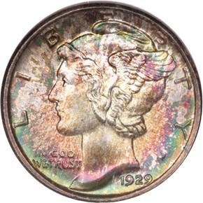 1929 10C MS obverse