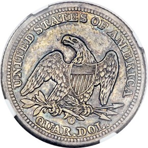 1849 O 25C MS reverse