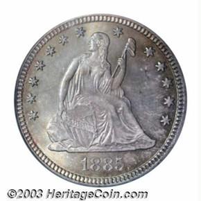 1885 25C MS obverse