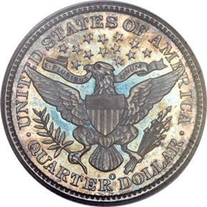 1893 O 25C MS reverse