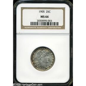 1905 25C MS obverse