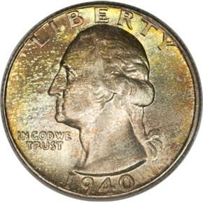 1940 25C MS obverse