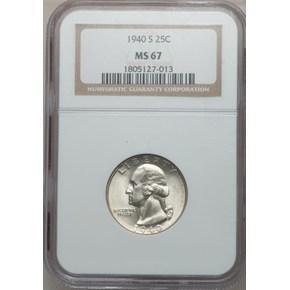 1940 S 25C MS obverse