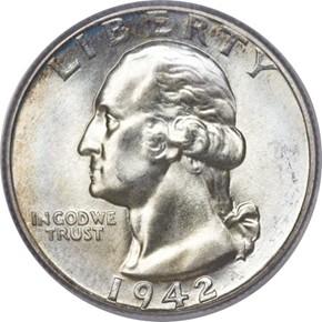 1942 25C MS obverse