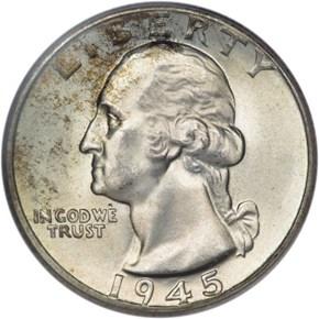 1945 25C MS obverse
