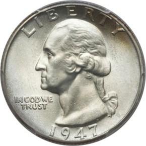 1947 25C MS obverse