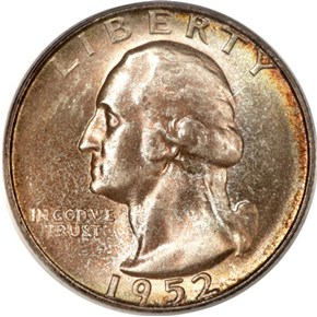 1952 S 25C MS obverse