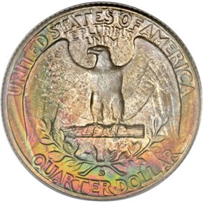 1953 D 25C MS reverse