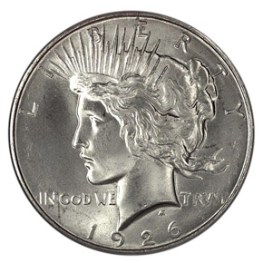 1926 D S$1 MS obverse