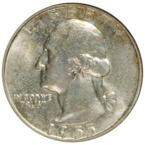 1955 D 25C MS obverse