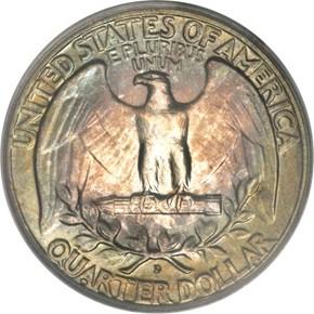 1956 D 25C MS reverse