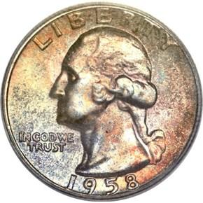 1958 25C MS obverse
