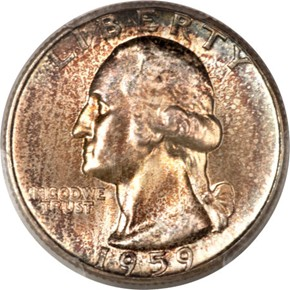 1959 25C MS obverse